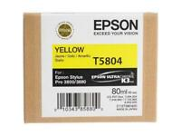 GENUINE AUTHENTIC EPSON T5804 YELLOW INK CARTRIDGE C13T580400 80ML