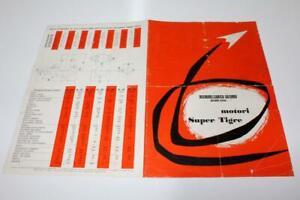 Rare 1972 Super Tiger Model Engine Pamphlet