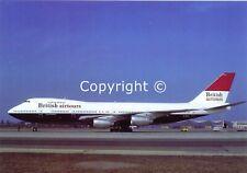 British Airtours Boeing 747-236B G-BDXL at Munich Riem Airport 1984 Postcard