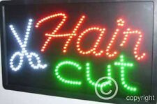 QUALITY FLASHING HAIR CUT Hairdressing Beauty LED sign board new shop sign