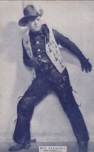 """ROY  STEWART """"universal """"-WESTERN cowboy ACTOR 1920s arcade/exhibit postcard"""