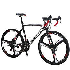 Eurobike700C Wheels Road Bike 21 Speed Bicycle 54cm Daul Disc Brakes mens bikes