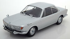 KK SCALE MODELS 1965 BMW 2000 CS Coupe Silver Color LE of 1000 1/18 New In Stock