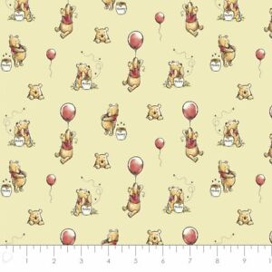 Disney's Winnie the Pooh Chamomile Balloon Cotton Fabric by the Yard