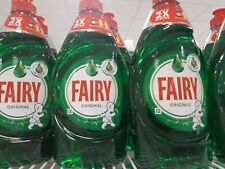 Fairy Original Green Wash Up Ĺiquid 4 x 383ml FLASH SALE £9 FP FUNDS ALZHEIMERS