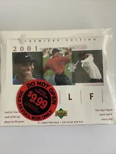 New listing 2001 UD Upper Deck Golf Premiere Edition Box New/Factory Sealed