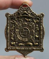 "2.2"" Curio Nepal Tibetan Buddhism Bronze Nine Palace Gossip Small Amulet Pendant"
