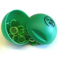 GREEN BINGO BALL MAGNET WITH 100 CHIPS