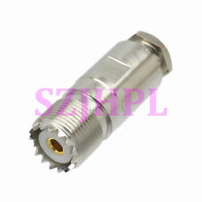 1pc Connector SO239 UHF female jack clamp RG58 RG142 LMR195 RG400 cable straight