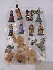 Christmas Nativity Scene MINI Ornaments Set of 16