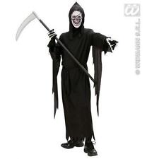 Childrens Grim Reaper Fancy Dress Costume Halloween Ghost Ghoul Outfit 158Cm