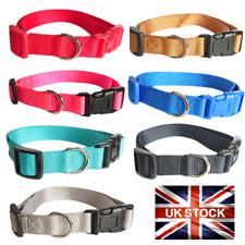 Dog Cat Collar Nylon Adjustable Collars 4 sizes 7 colours UK Pet Accessories