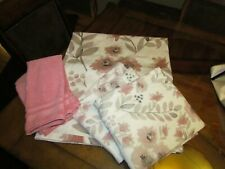 """Threshold Bath set """"Coral Blooms"""" shower curtain, towels, hand towels,"""