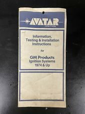 Avatar Ignition Testing and Installation Instructions - Gm Products 1974 & Up