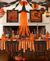 Orange Halloween Crepe Paper Streamers Hanging Decorations Craft Display Party