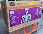 12 FT Foot Giant Skeleton W/Animated LCD Eyes Halloween Prop Home Depot Sold Out