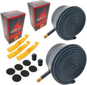 """LLH2K 12"""" Front Wheel Stroller Inner Tube Premium Butyl Rubber Kit Set Of 2"""
