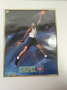 Vintage 1993 Michael Jordan Looney Tunes NIKE Poster AEROSPACE Jordan