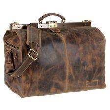 Greenburry Maulbügeltasche Leder Reisetasche Arzttasche Hebammentasche Vintage