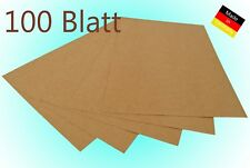 100 Blatt Premium Kraftpapier Kraftkarton A4  Bastelkarton braun 225 oder 300g/m