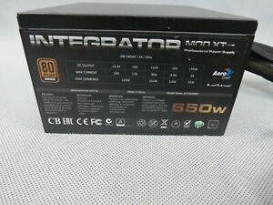 Aerocool Integrator MOD XT Computer Power Supply PSU ATX 80+ Bronze 650W Modular