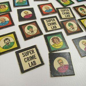 Batman Vintage Board Game Replacement Parts 1966 Pieces Super Crime Lab Villains