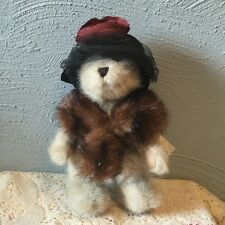 BOYD'S BEARS PLUSH Dixie Hackett 918334 Best Dressed Mink stole black hat BOYDS