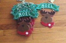 Nwt 9 Reindeer /Moose Felt Hanging Decorations Multiple Uses