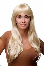 Damen Perücke hellblond lang & glatt blond Pony Qualitätsperücke Wig 9213-LG26