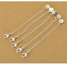 40x Tail Extension Chains With Tag Lobster Clasps for Necklace Bracelet Findings