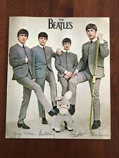 Vintage Beatles 1964 Color Picture Photograph 8x10 FAB facsimile signature Mint