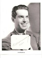 Fred MacMurray Autograph My Three Sons Double Indemnity