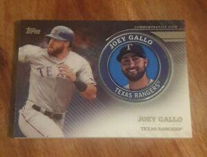 joey gallo texas rangers topps baseball 2020 commemorative coin