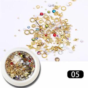 Nail Art 3D Rose Flower Rhinestones Jewelry Gems Mix Nail Art Decoration Glitter