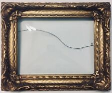 Antique Ornate Gold Photo Frame With Curved (Bubble?) Glass