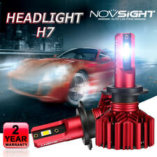 NOVSIGHT 60W 10000LM H7 Auto LED Headlight Bulbs Kit 6000K High Low Beam IP68