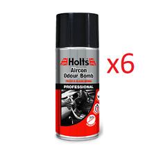 6x Holts Car Air Con Odour Bomb Air Conditioning Neutraliser & Sanitiser Cleaner