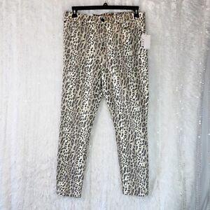 Joe's Jeans The Charlie High-Rise Skinny Ankle Leopard & Snake Print Denim Sz 32