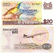 Singapore $20 P#12 (1979) Bird Series Bradbury Wilkinson Mint UNC