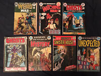 DC HORROR lot of 7 comics Wtiching Hour, Unexpected, House of Mystery, Weird War
