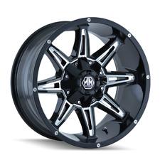 Mayhem Rampage 8090 Black and Milled 20x9 0mm 8x170 8x165.1 Ford Dodge Ram