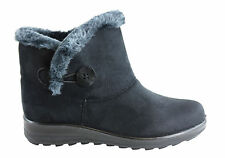 NEW BELLISSIMO TEMORA WOMENS FUR LINED COMFORT WARM ANKLE BOOTS