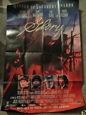 Glory (Video Dealer 40 X 27 Poster, 1990S) Matthew Broderick, Denzel Washington