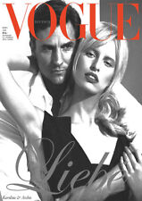 BLACK AND WHITE RED VOGUE MAGAZINE COVER REPRODUCTION, 280GSM SATIN PAPER PRINT