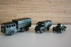 DINKY TOYS France 80 D Berliet + 670 Armoured Car  + 821 Unimog Mercedes Benz