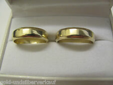 original Niessing, breite Trauringe, 1 Paar Eheringe, Gelbgold 585, Größe 58, 63
