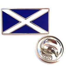Scotland Oblong Saltire Enamel Lapel Pin Badge T926