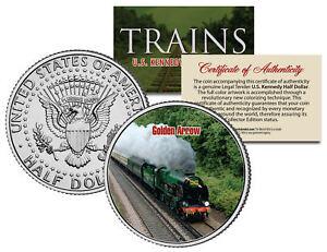 GOLDEN ARROW TRAIN *Famous Trains Series* JFK Half Dollar Colorized U.S. Coin