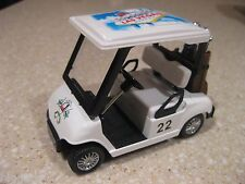 LAS VEGAS GOLF CART WITH CLUBS CADDY DIE CAST MODEL PULL BACK MOTION PGA 22