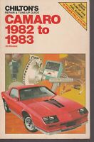 CHILTON'S REPAIR AND TUNE UP GUIDE CAMARO  1982 TO 1983
